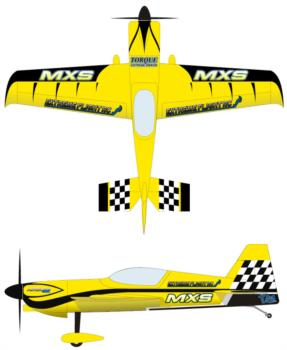 extreme flight mxs 60in yellow 2