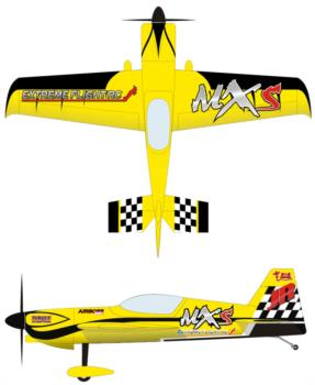 Extreme Flight MXS Yellow 1 Graphic Package