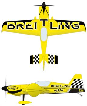 Extreme Flight MXS yellow 4 Graphic Package