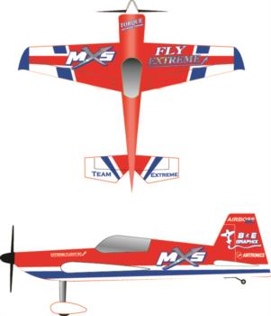 Extreme Flight MXS red Graphic Package