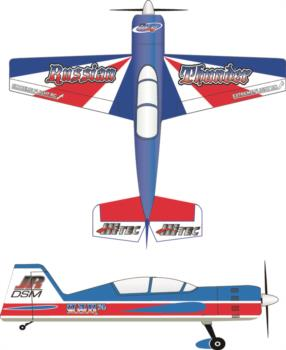Extreme Flight Yak 54 Printed Russian Thunder Graphic Package