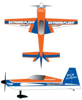 Extreme Flight Extra 300EXP-orange Graphic Package