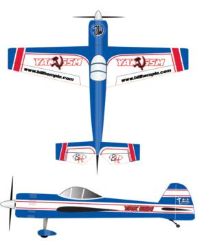 Bill Hempel Yak 55 - blue 1 Graphic Package 1