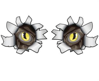 Monster Eye Rip out rc digital decal