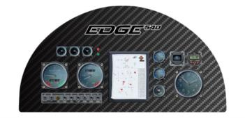 Edge 540 Instrument Panel rc digital decal