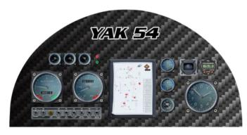 Yak 54 Instrument Panel rc digital decal