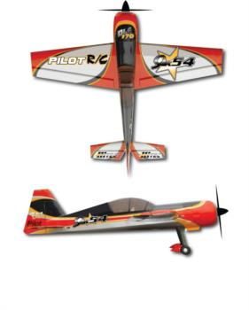 Pilot RC Yak 54 silver-red Graphic Package