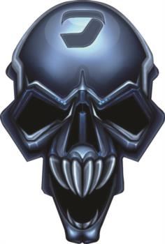 Blue Skull rc digital decal
