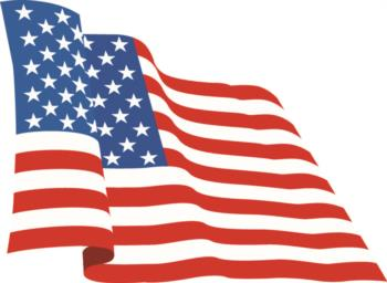 Waving U.S. Flag rc digital decal