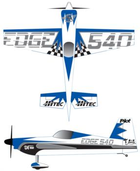 Pilot Edge 540 Blue 1 Decal Package